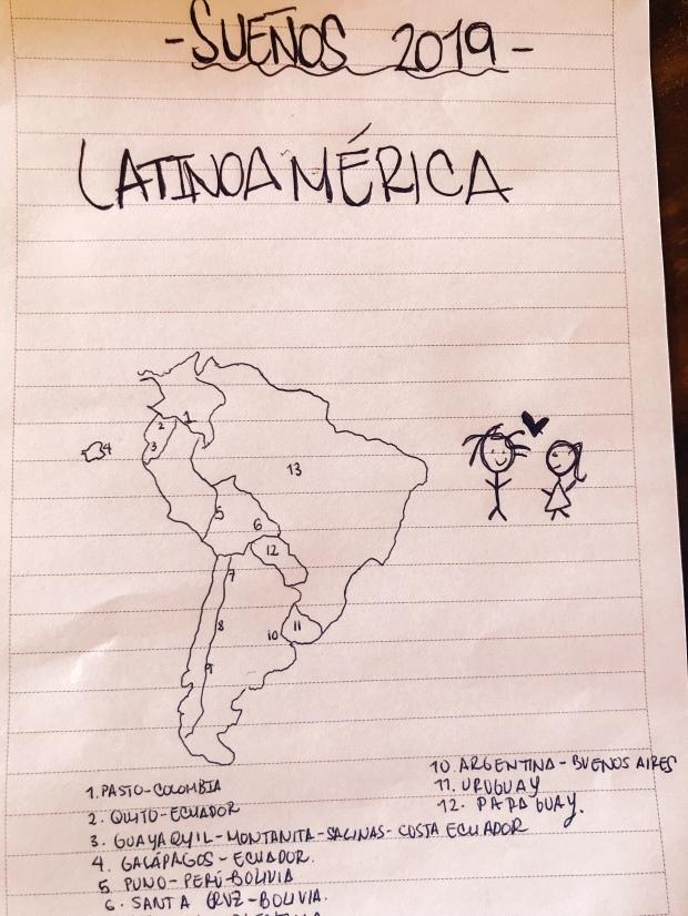 Mapa del viaje Isa por ahi
