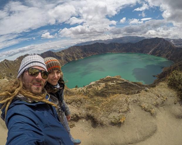Mirador Laguna Quilotoa, Ecuador.
